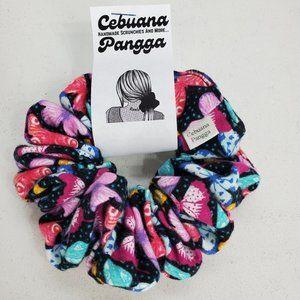Handmade Women's Scrunchies Large Butterfly Print